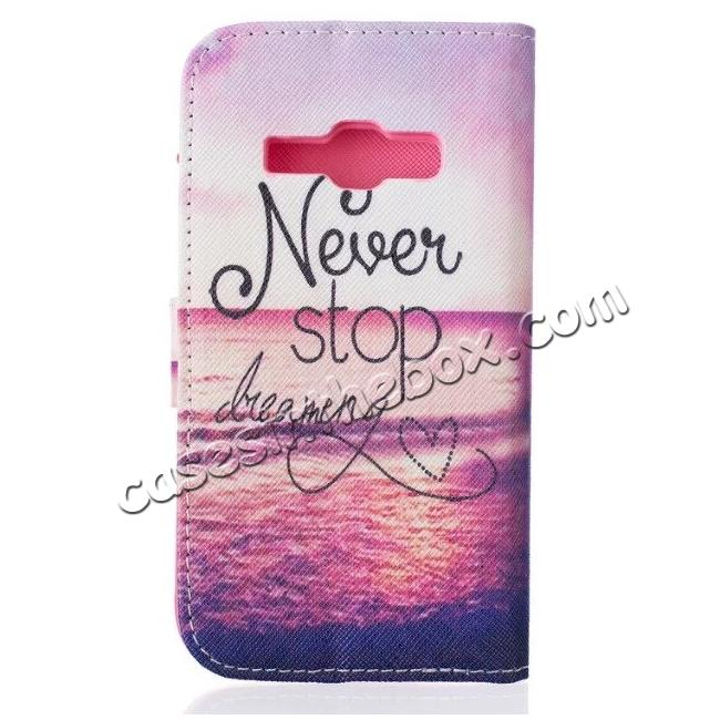 cheap Patterned Wallet PU Leather Stand Phone Case Cover For Samsung Galaxy J1 (2016) J120