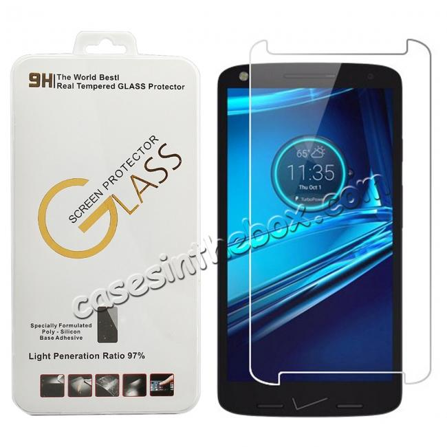 wholesale Premium HD Tempered Glass Film Screen Protector For Motorola Droid Turbo 2 XT1585