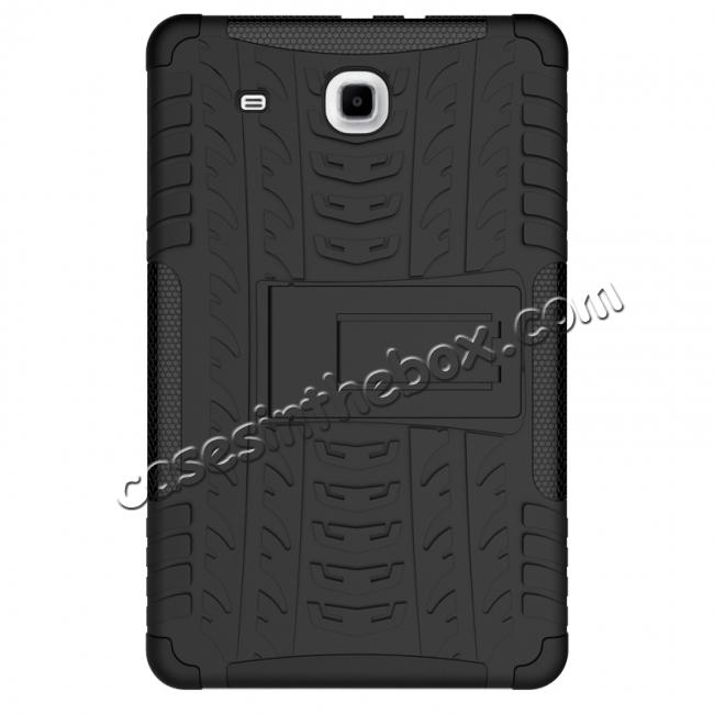 cheap Shockproof Armor Heavy Duty Hybrid Kickstand Cover Case For Samsung Galaxy Tab E 9.6inch T560 - Black