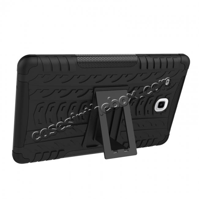 best price Shockproof Armor Heavy Duty Hybrid Kickstand Cover Case For Samsung Galaxy Tab E 9.6inch T560 - Black