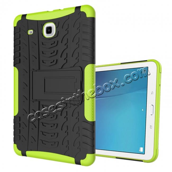 wholesale Shockproof Armor Heavy Duty Hybrid Kickstand Cover Case For Samsung Galaxy Tab E 9.6inch T560 - Green