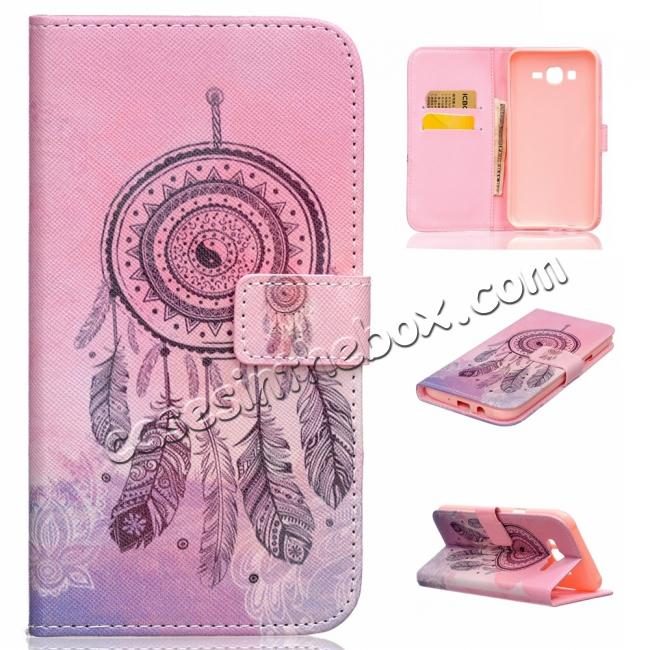 on sale Fashion Leather Wallet Filp stand Case for Samsung Galaxy J7 / J700 (2015)