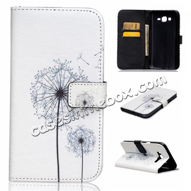 high quanlity Fashion Leather Wallet Filp stand Case for Samsung Galaxy J7 / J700 (2015)