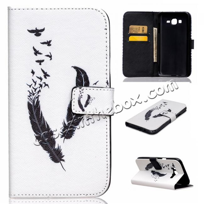 china cheap Fashion Leather Wallet Filp stand Case for Samsung Galaxy J7 / J700 (2015)
