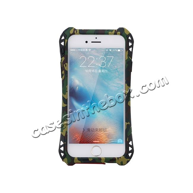 discount R-JUST Shockproof Aluminum metal Case For iPhone 6/6S 4.7 inch - Camouflage