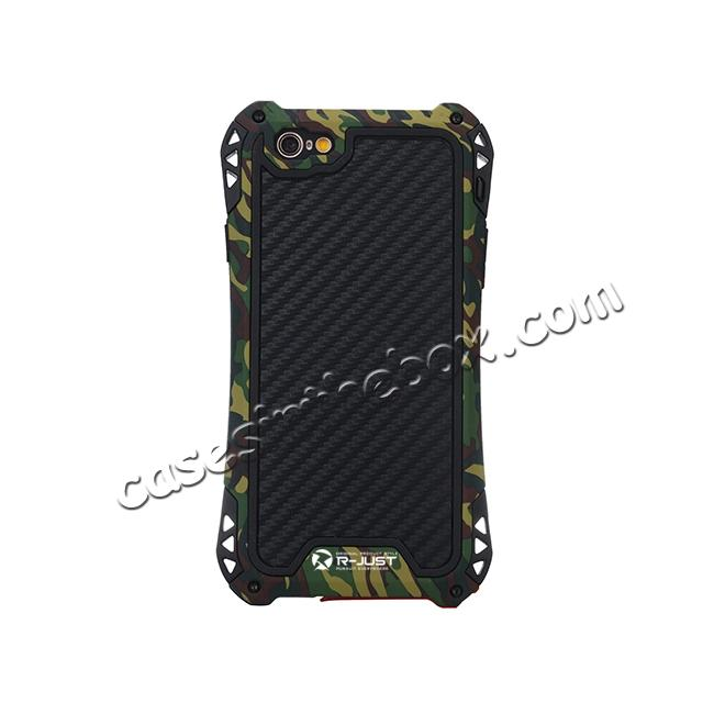 cheap R-JUST Shockproof Aluminum metal Case For iPhone 6/6S 4.7 inch - Camouflage
