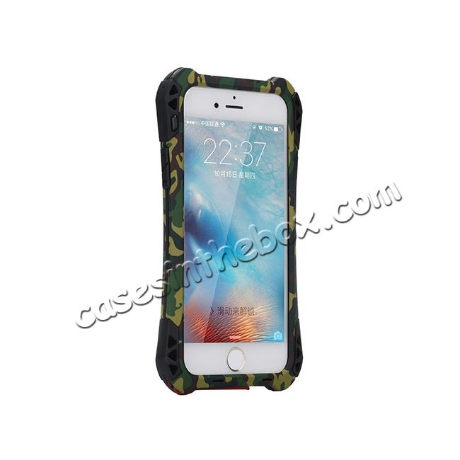 top quality R-JUST Shockproof Aluminum metal Case For iPhone 6/6S 4.7 inch - Camouflage