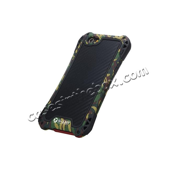on sale R-JUST Shockproof Aluminum metal Case For iPhone 6/6S 4.7 inch - Camouflage