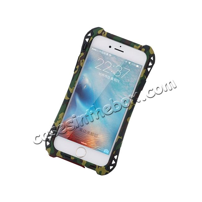 low price R-JUST Shockproof Aluminum metal Case For iPhone 6/6S 4.7 inch - Camouflage