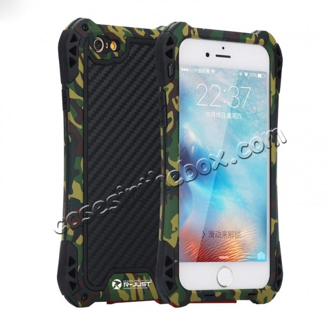 wholesale R-JUST Shockproof Aluminum metal Case For iPhone 6/6S 4.7 inch - Camouflage