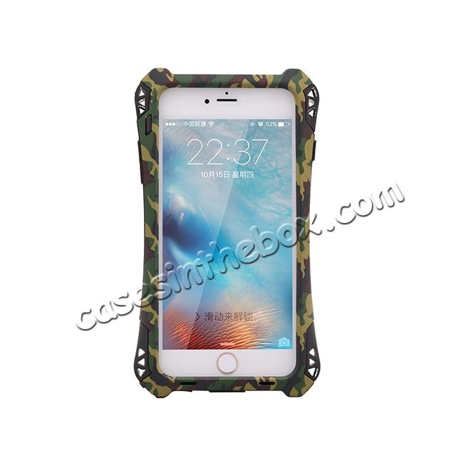 discount R-JUST Shockproof Aluminum metal Case For iPhone 6 Plus / 6S Plus 5.5 inch - Camouflage