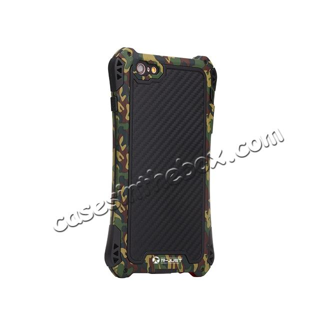 top quality R-JUST Shockproof Aluminum metal Case For iPhone 6 Plus / 6S Plus 5.5 inch - Camouflage