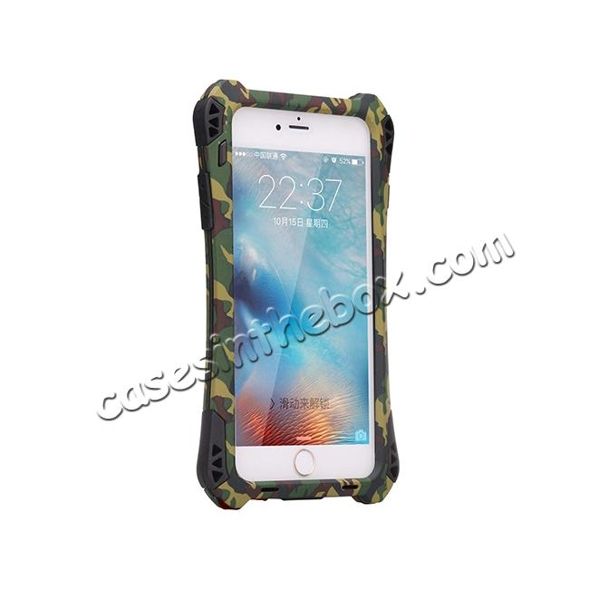 best price R-JUST Shockproof Aluminum metal Case For iPhone 6 Plus / 6S Plus 5.5 inch - Camouflage