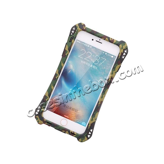 on sale R-JUST Shockproof Aluminum metal Case For iPhone 6 Plus / 6S Plus 5.5 inch - Camouflage