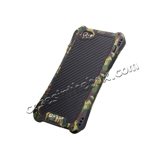 low price R-JUST Shockproof Aluminum metal Case For iPhone 6 Plus / 6S Plus 5.5 inch - Camouflage