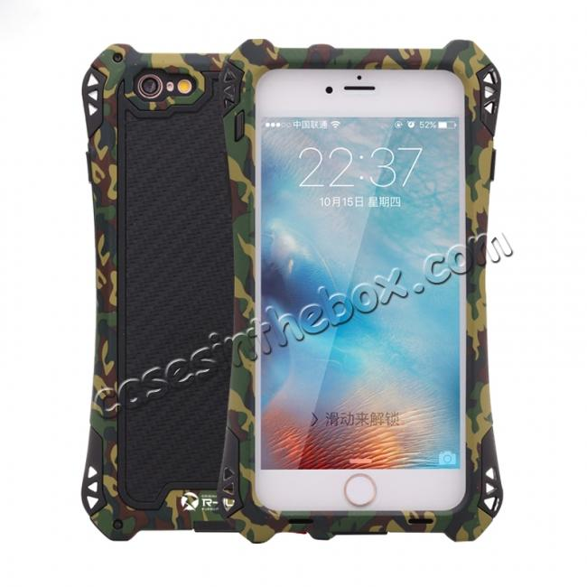 wholesale R-JUST Shockproof Aluminum metal Case For iPhone 6 Plus / 6S Plus 5.5 inch - Camouflage