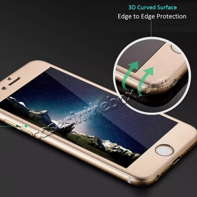 discount 3D Curved Full Coverage Tempered Glass Screen Protector for iPhone 6S Plus / 6 Plus 5.5inch - Gold