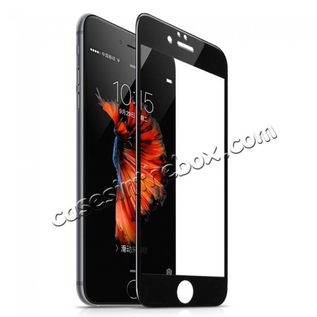 wholesale 3D Full Coverage Tempered Glass Screen Protector For iPhone 6 / 6S 4.7inch - Black