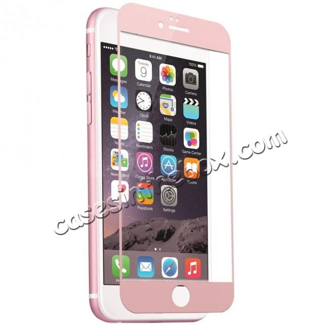 wholesale 3D Full Coverage Tempered Glass Screen Protector For iPhone 6 / 6S 4.7inch - Rose Gold