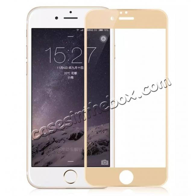wholesale 3D Full Coverage Tempered Glass Screen Protector For iPhone 6 / 6S 4.7inch - Gold