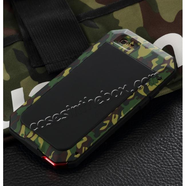 discount R-JUST Shockproof Aluminum Gorilla Glass Metal Case For iPhone 6S / 6 4.7 inch - Camouflage