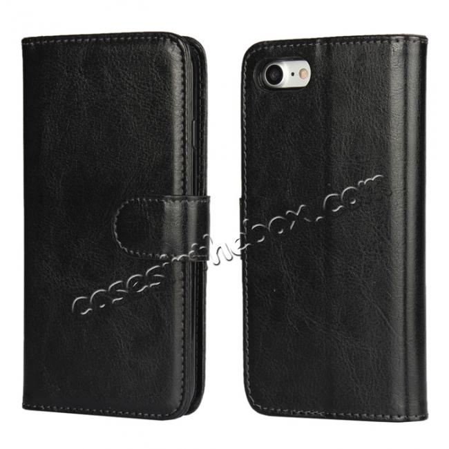 wholesale 2in1 Magnetic Removable Detachable Wallet Cover Case For iPhone 7 4.7 inch - Black