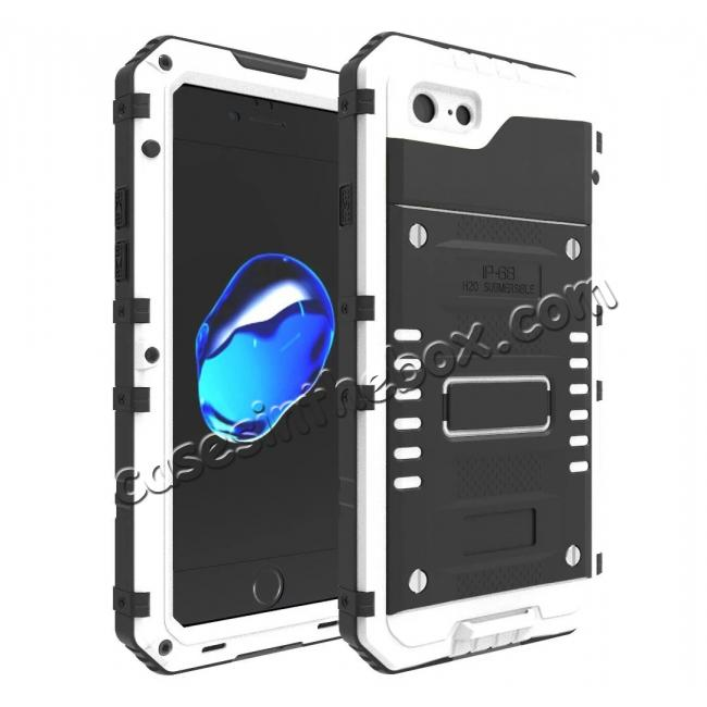 wholesale IP68 Waterproof / Dust Proof / Shockproof Aluminum Metal Case for iPhone 7 4.7inch - White