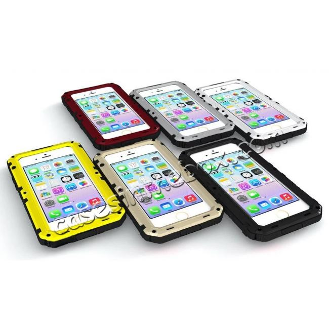 discount IP68 Waterproof Shockproof Aluminum Metal Case for iPhone 7 Plus 5.5inch - Yellow