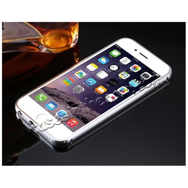 discount Luxury Aluminum Metal Bumper Mirror Back Case Cover for iPhone 7 4.7inch - Silver