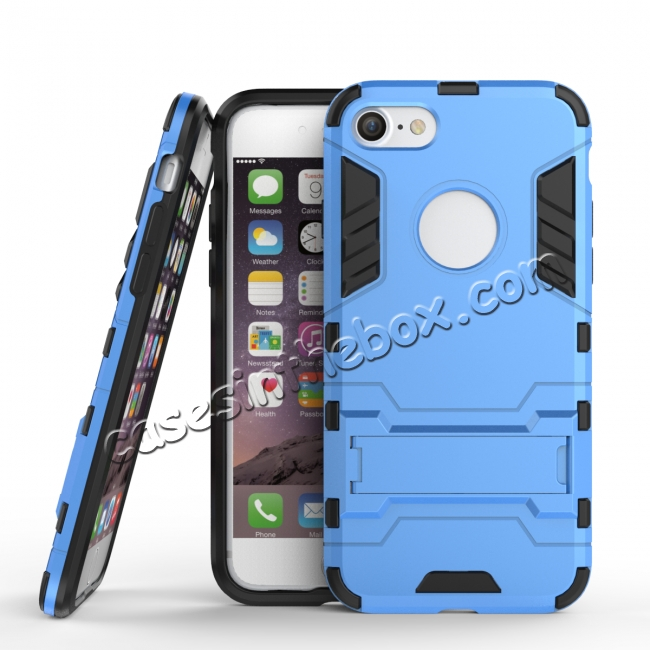 wholesale Slim Armor Shockproof Kickstand Protective Case for iPhone 7 4.7inch - Blue