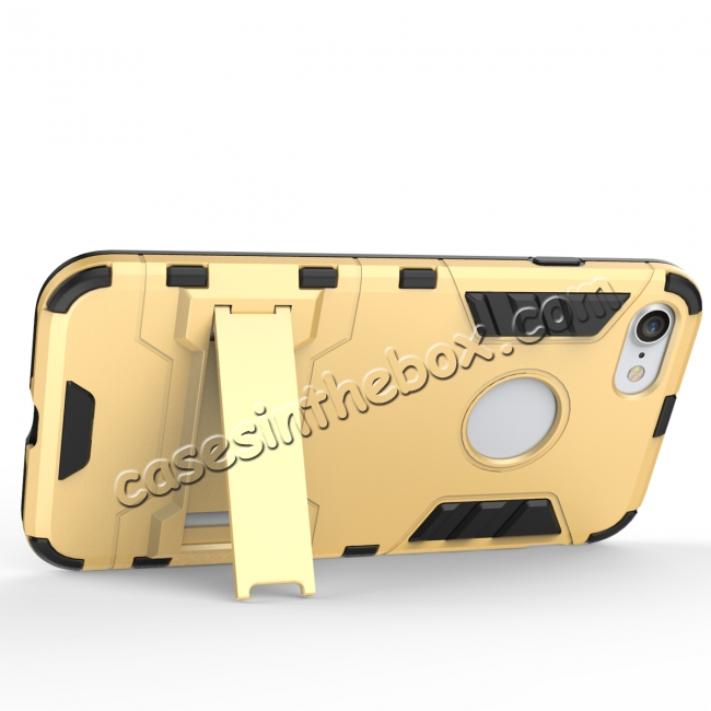discount Slim Armor Shockproof Kickstand Protective Case for iPhone 7 4.7inch - Gold