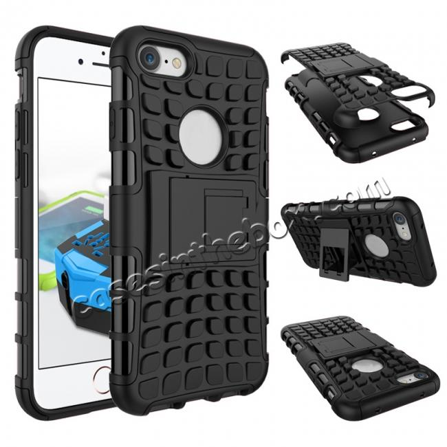 wholesale Tough Armor Shockproof Hybrid Dual Layer Kickstand Protective Case for iPhone 7 4.7inch - Black