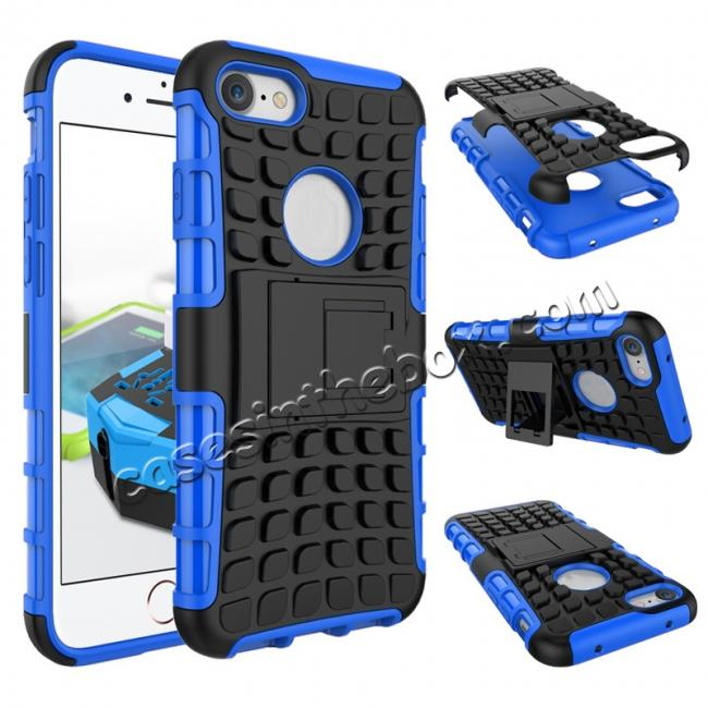 wholesale Tough Armor Shockproof Hybrid Dual Layer Kickstand Protective Case for iPhone 7 4.7inch - Blue