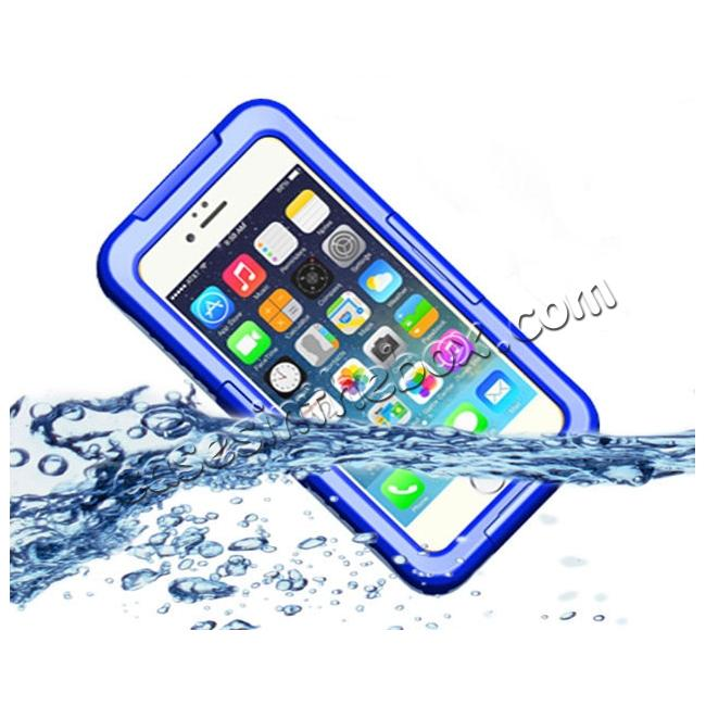 wholesale Waterproof Durable Shockproof Dirt Snow Proof PC Case Cover for iPhone 7 4.7 inch - Blue