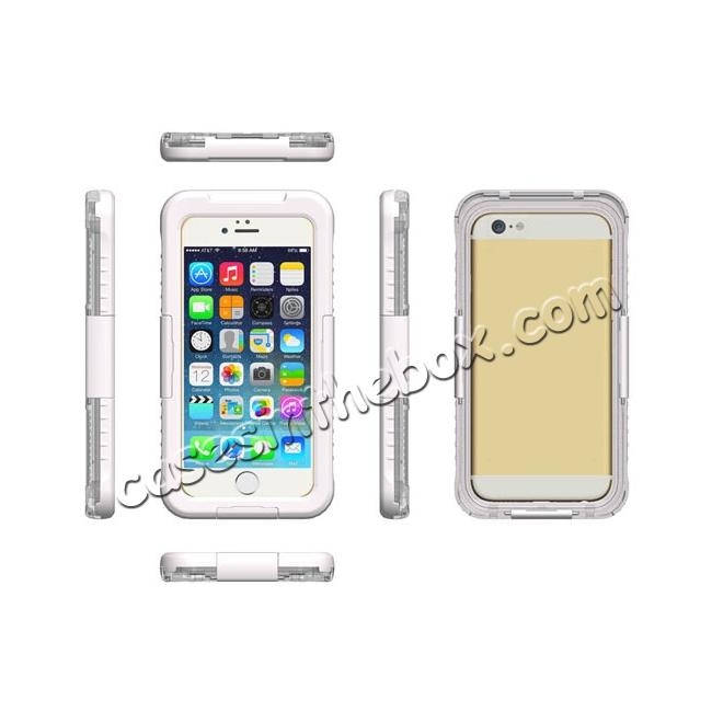 discount Waterproof Durable Shockproof Dirt Snow Proof PC Case Cover for iPhone 7 4.7 inch - White