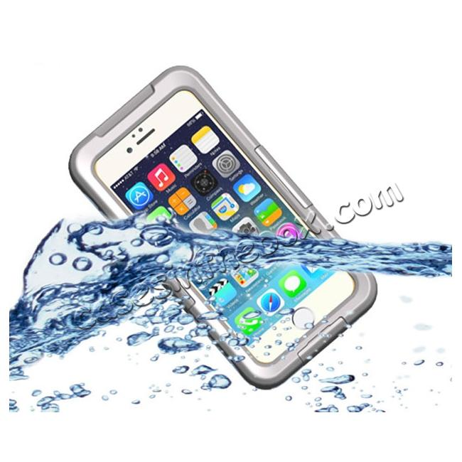 wholesale Waterproof Durable Shockproof Dirt Snow Proof PC Case Cover for iPhone 7 4.7 inch - White