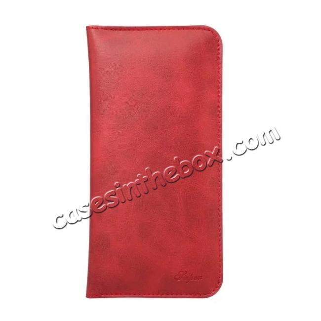 discount Crazy Horse PU Leather Flip Bag Pouch Wallet Case for iPhone 7 Plus 5.5 Inch - Red