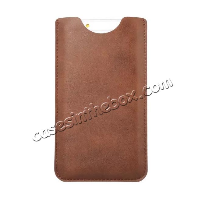 discount High quality Leather Pouch Case With Card Holder for iPhone 7 4.7 inch - Brown