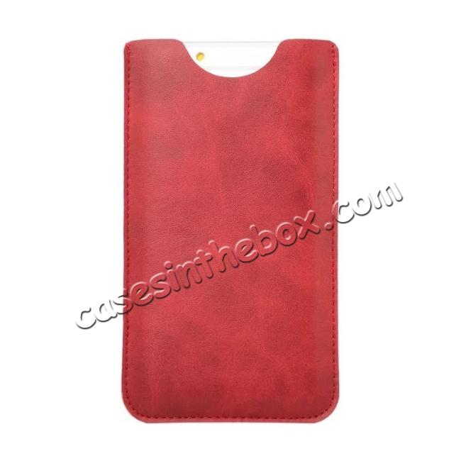cheap High quality Leather Pouch Case With Card Holder for iPhone 7 4.7 inch - Red