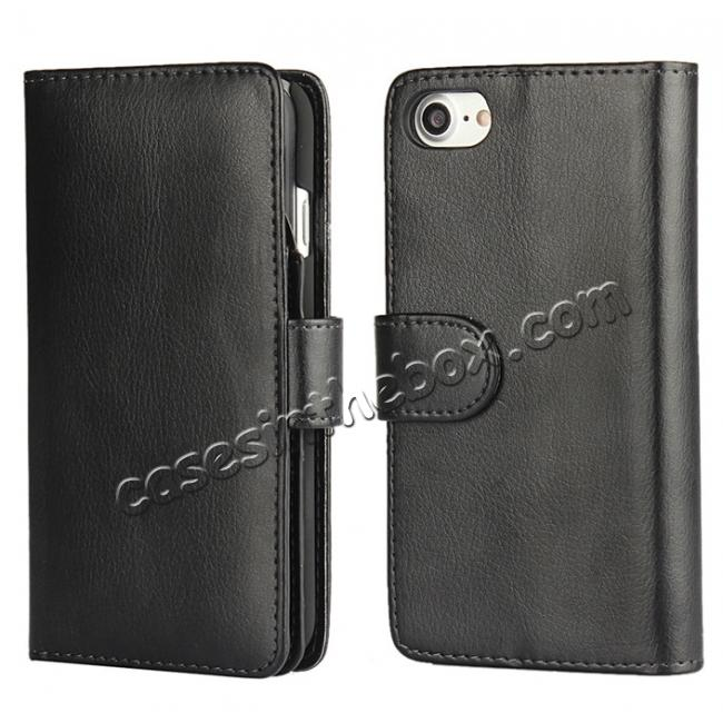 wholesale Multifunctional Magnet Wallet Leather Flip Case Cover for iPhone 7 4.7 inch - Black
