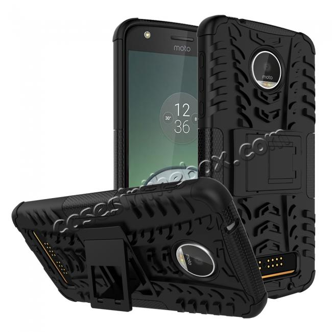 wholesale Silm Armor Kickstand Protective Cover Case For Motorola Moto Z Play/ Moto Z Play Droid - Black