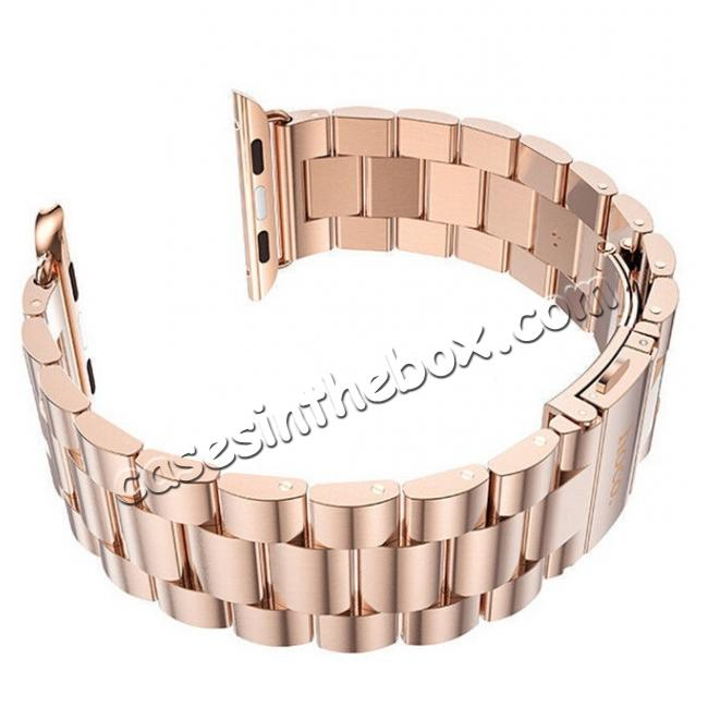 discount wholesale HOCO Stainless Steel Strap Classic Buckle Adapter Watch Bands for Apple Watch Series1/Watch Series2