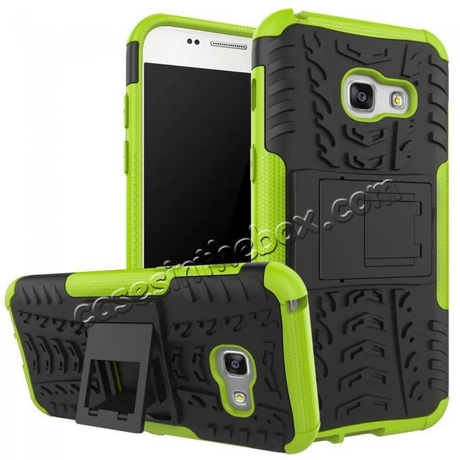 wholesale Shockproof Armor Kickstand Hybrid Protective Cover Case For Samsung Galaxy A7 (2017)  - Green