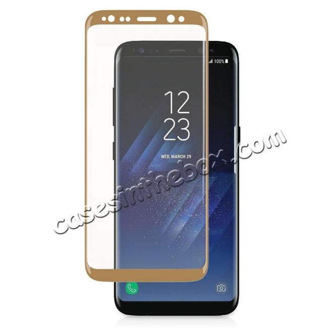 wholesale 3D Curved Edge 9H Hardness Tempered Glass Screen Protector Full Coverage Film for Samsung Galaxy S8+ Plus