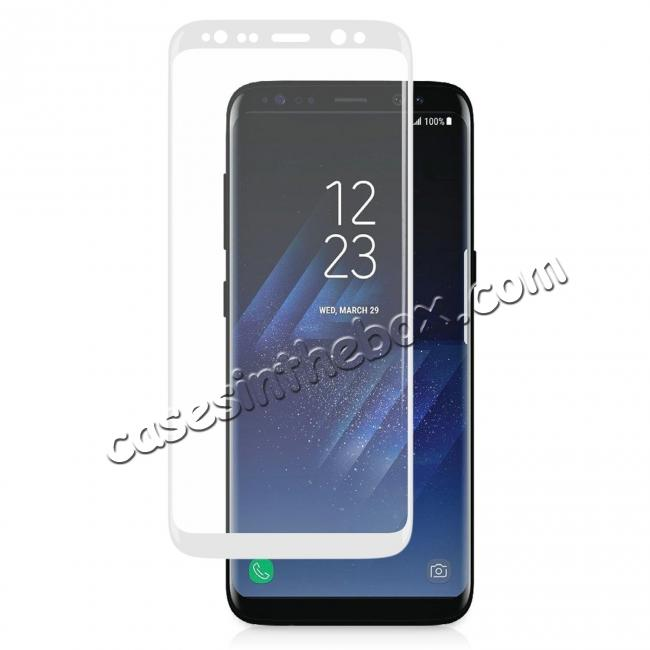 discount 3D Curved Edge 9H Hardness Tempered Glass Screen Protector Full Coverage Film for Samsung Galaxy S8+ Plus