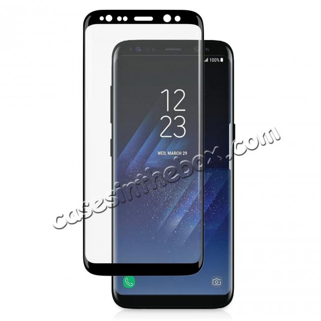 top quality 3D Curved Edge 9H Hardness Tempered Glass Screen Protector Full Coverage Film for Samsung Galaxy S8+ Plus
