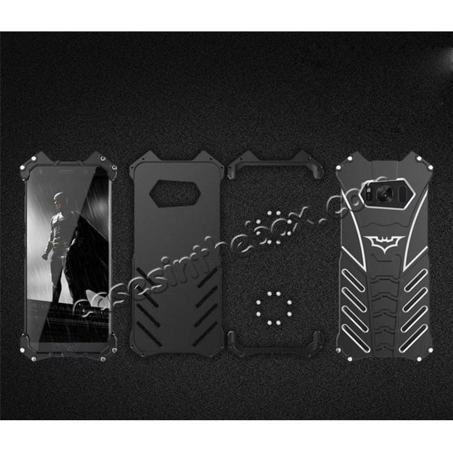 on sale Aluminum Alloy Armor Bumper Shockproof Drop Resistance Shell Back Cover For Samsung Galaxy S8+ Plus - Black