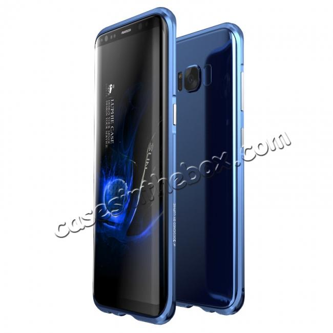 wholesale Aluminum Alloy Metal Bumper Frame Case Cover for Samsung Galaxy S8 - Blue