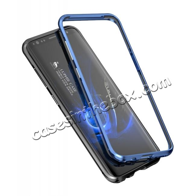 top quality Aluminum Alloy Metal Bumper Frame Case Cover for Samsung Galaxy S8 - Blue
