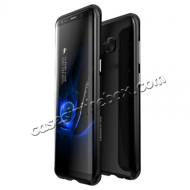 wholesale Aluminum Alloy Metal Bumper Frame Case Cover for Samsung Galaxy S8 - Black